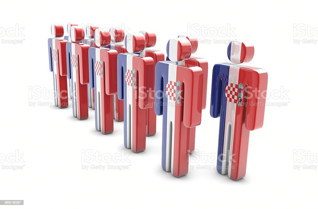 Team Croatia royalty-free stock photo