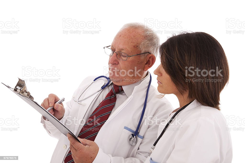 Team doctors royalty-free stock photo