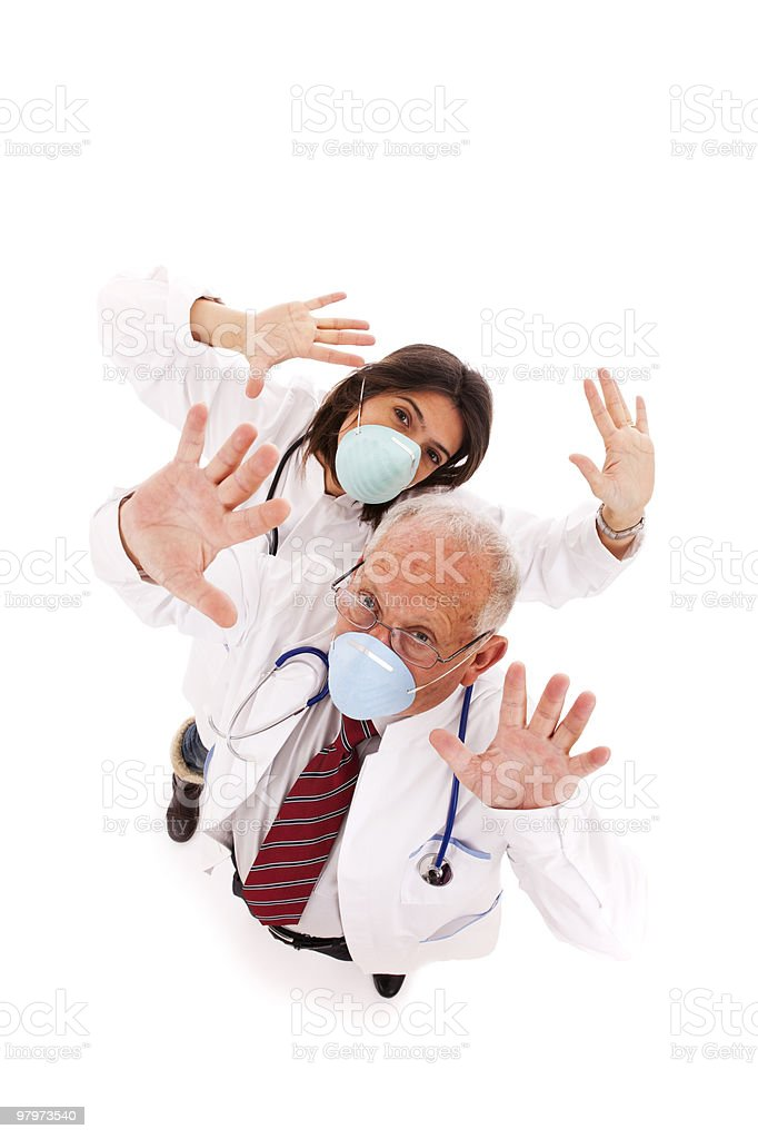 Team doctors with a mask royalty-free stock photo