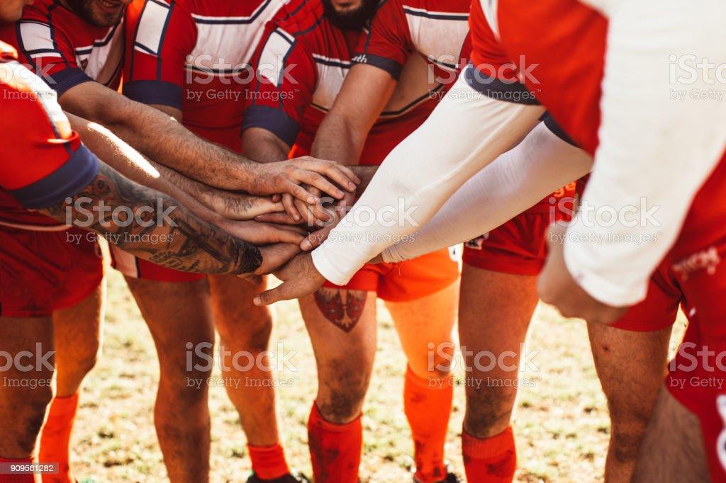 Team encouragement stock photo