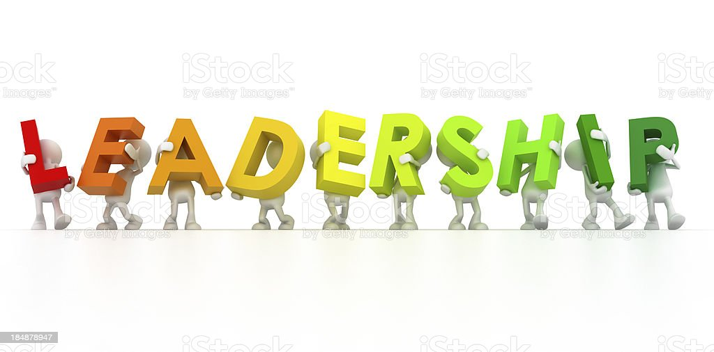 Team forming Leadership word royalty-free stock photo