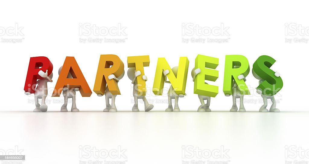 Team forming Partners word royalty-free stock photo