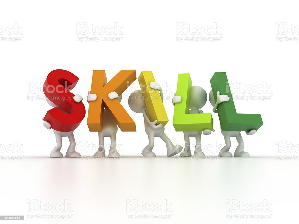 Team forming SKILL word royalty-free stock photo