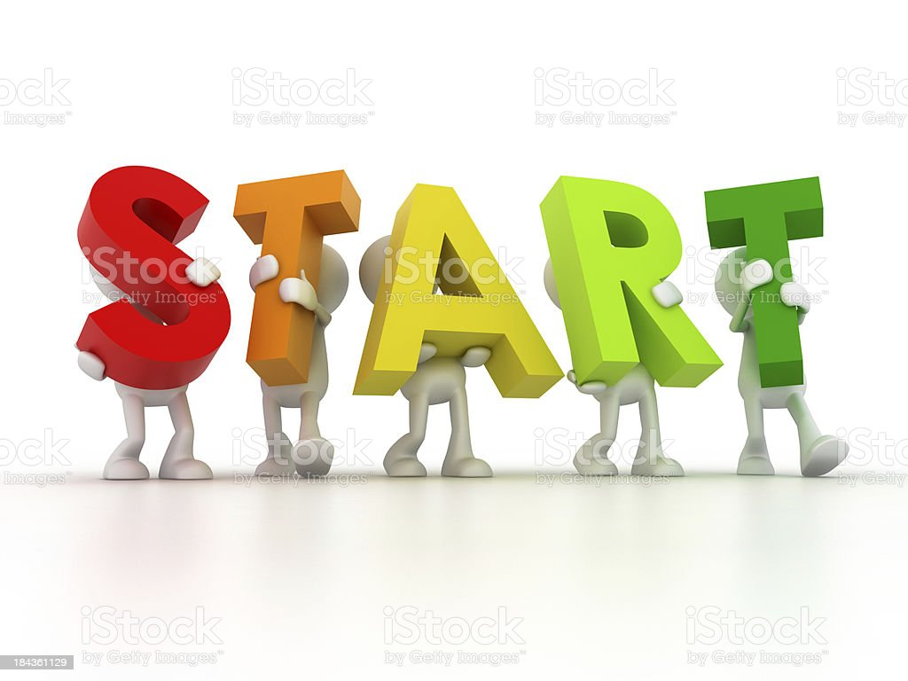 Team forming START word royalty-free stock photo