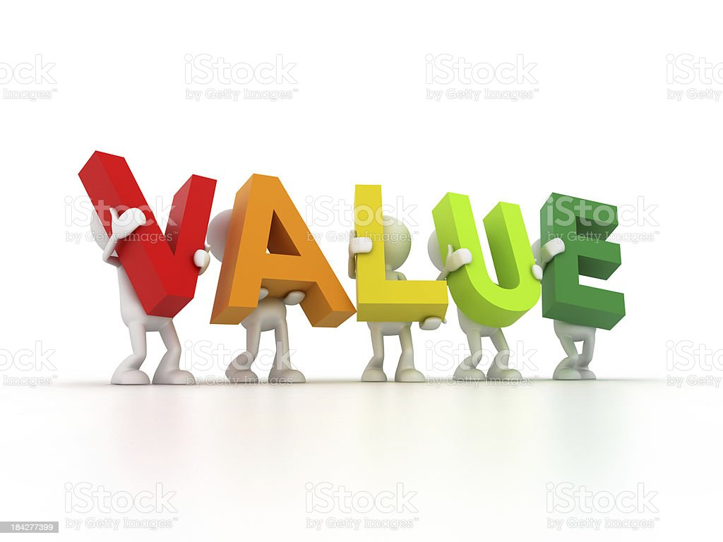 Team forming Value word royalty-free stock photo