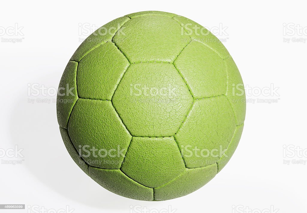 team handball ball (with clipping path) stock photo