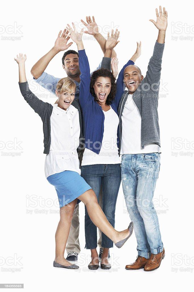Team having fun together royalty-free stock photo