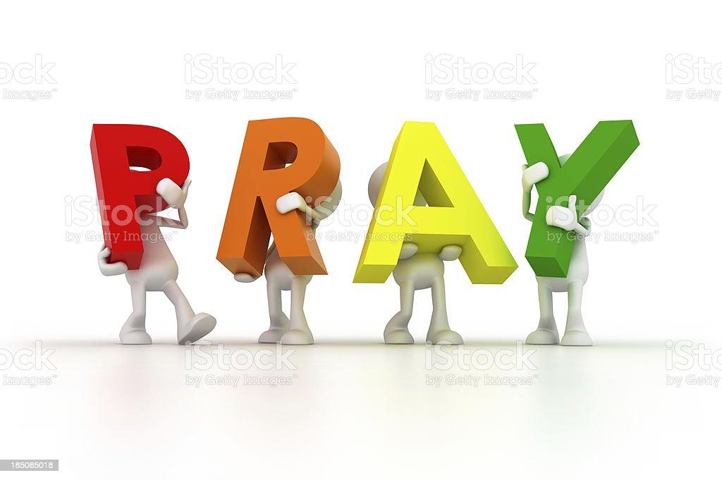 Team holding Pray word royalty-free stock photo