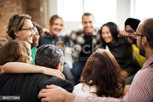 istock Team Huddle Harmony Togetherness Happiness Concept 504271344