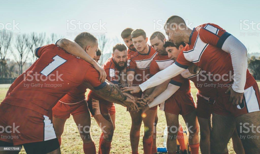Team Huddle stock photo