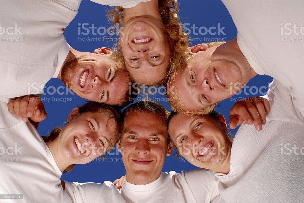 Team Huddle royalty-free stock photo