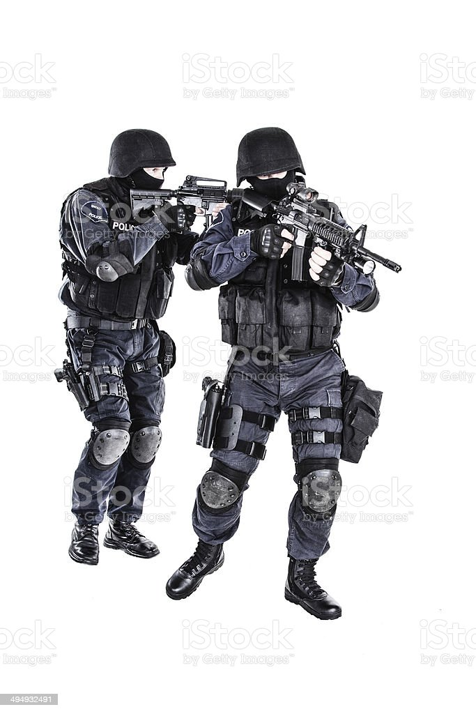 SWAT team in action royalty-free stock photo