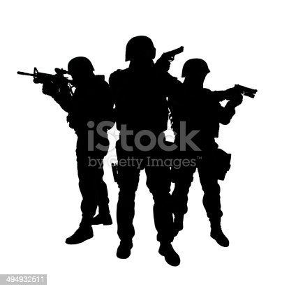 istock SWAT team in action 494932511