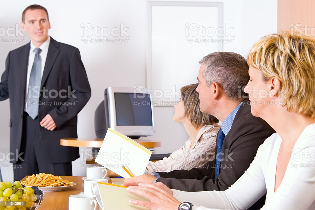 Team In The Conference Room royalty-free stock photo