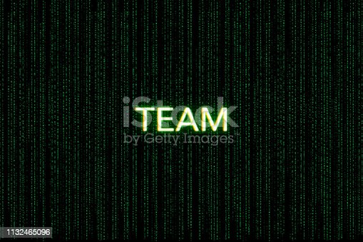 862615830 istock photo team, keyword of scrum, on a green matrix background 1132465096