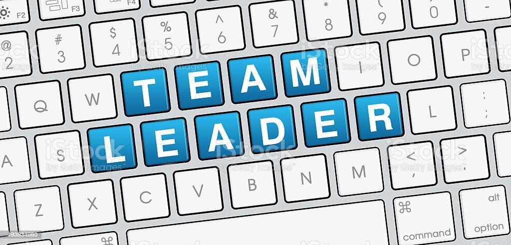 Team Leader laptop keyboard view stock photo