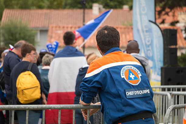team leader of the civil protection that monitors the public - Photo