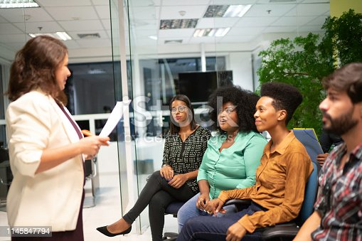 894290604 istock photo Team leader presenting results in a meeting 1145847794