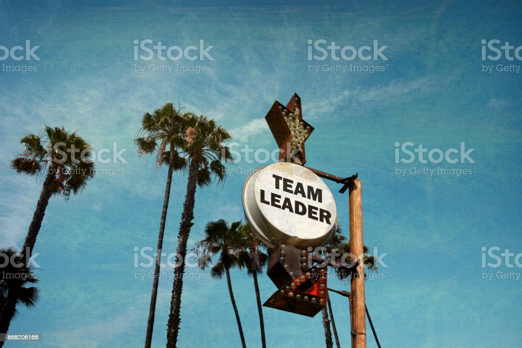team leader sign stock photo