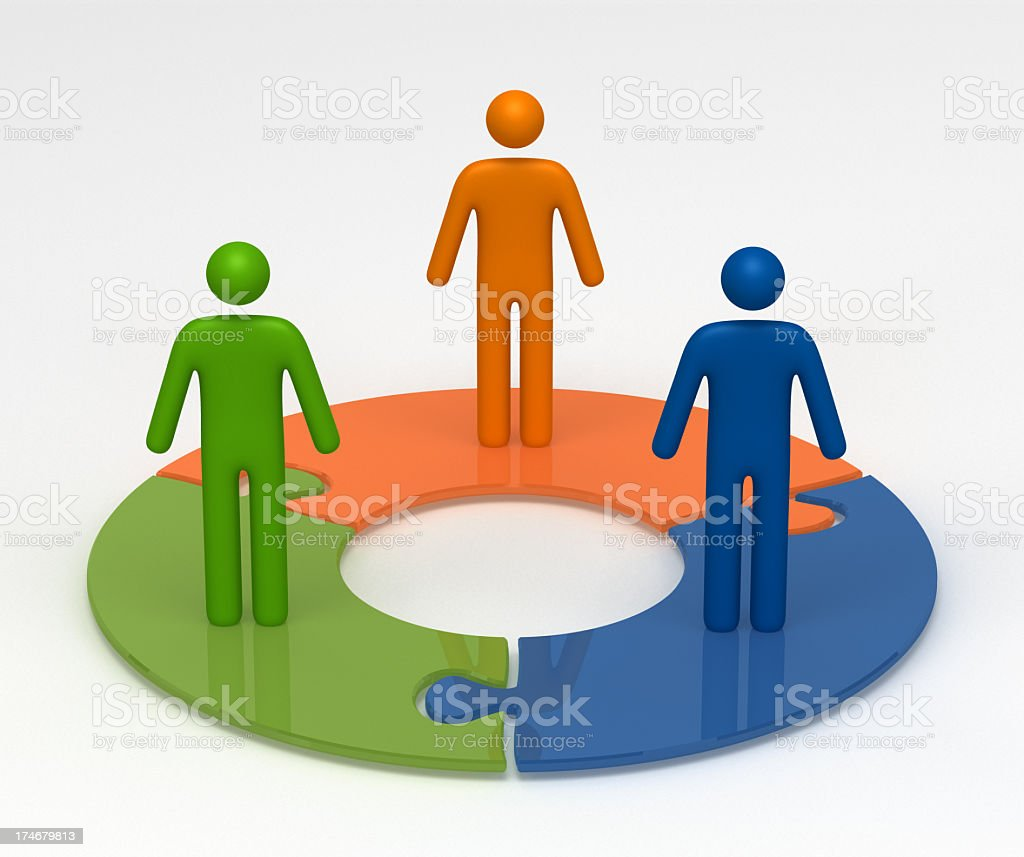 Team Life Cycle stock photo