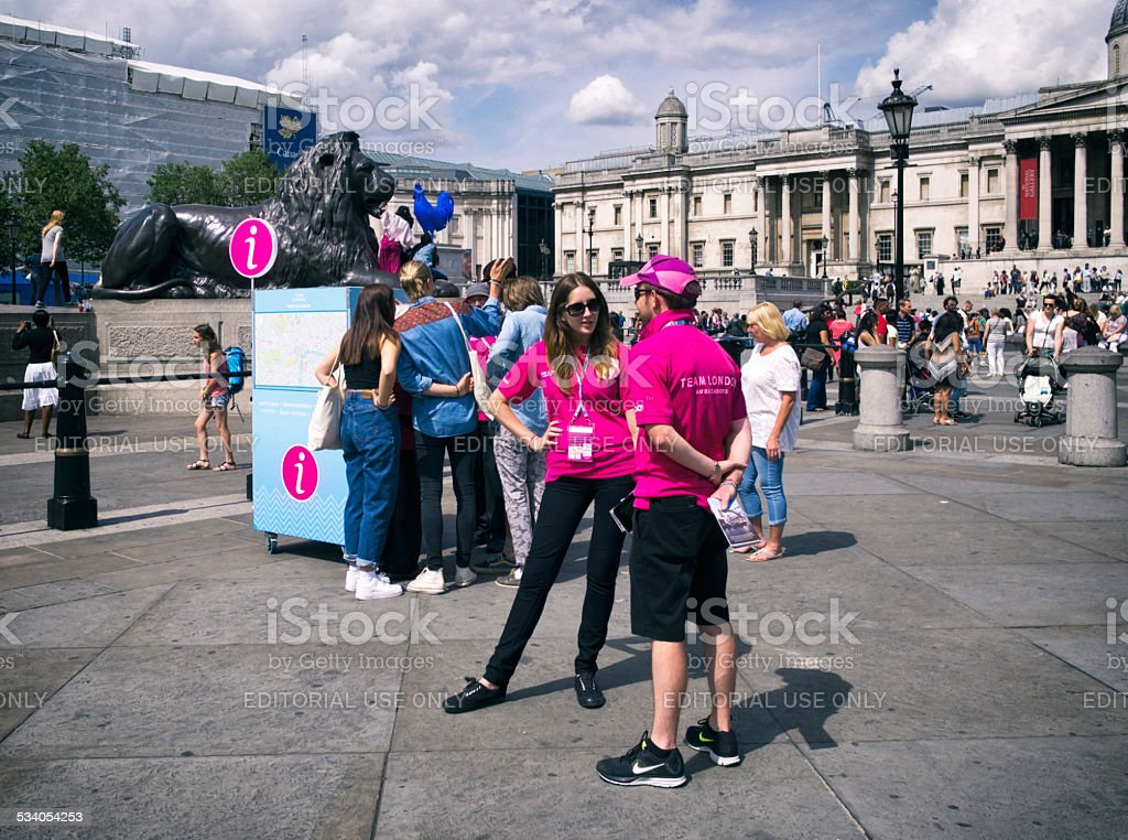 Team London Ambassadors in Trafalgar Square stock photo