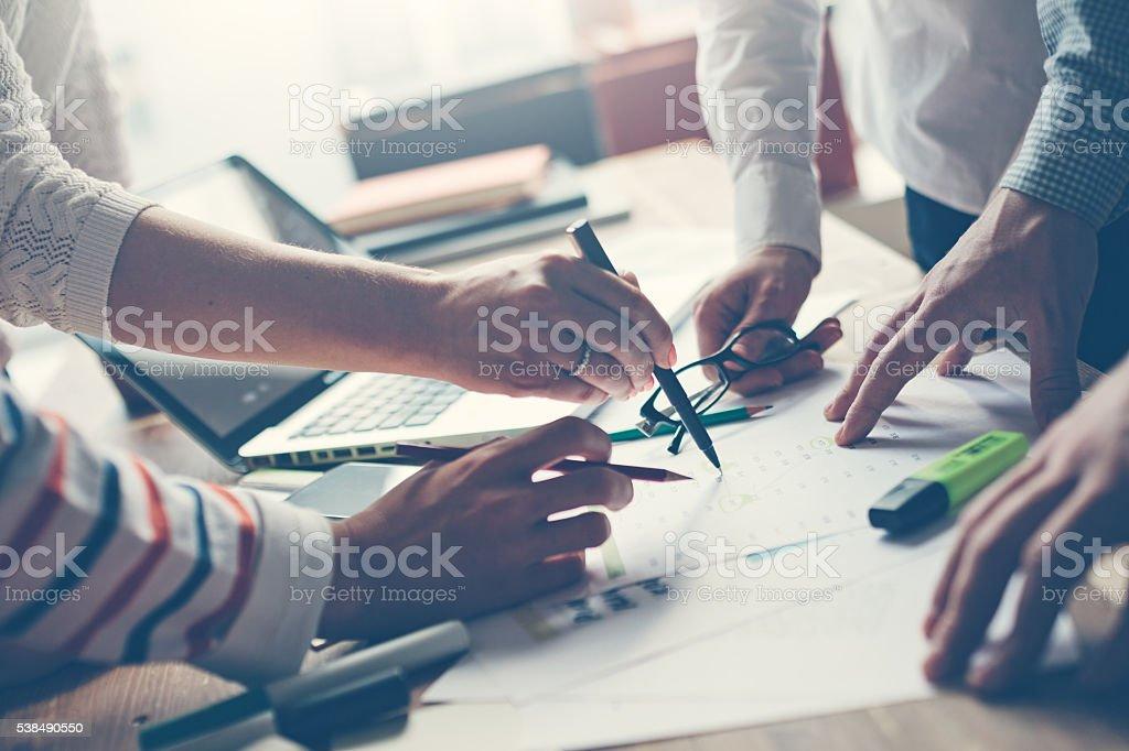 Team-Meetings. Besprechen neue Projekt – Foto