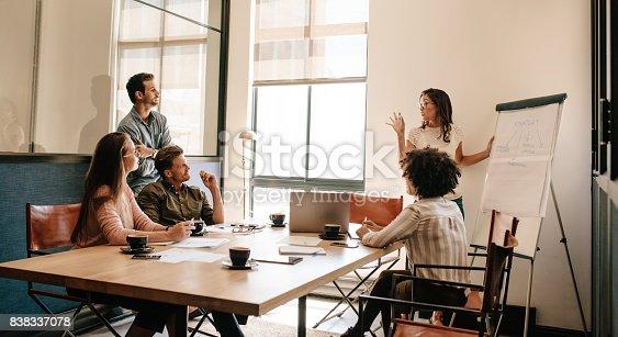 812513444istockphoto Team meeting in boardroom for exploring new business strategies 838337078