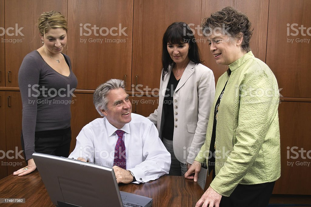 Team Meeting with Laptop Computer royalty-free stock photo