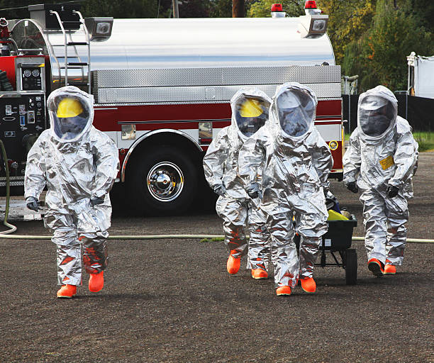 HAZMAT Team Members The Right Stuff stock photo