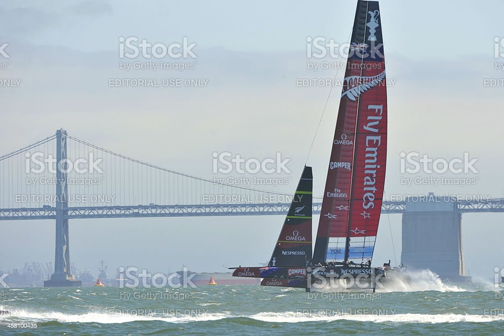 Team New Zealand competes during the America's Cup file stock photo