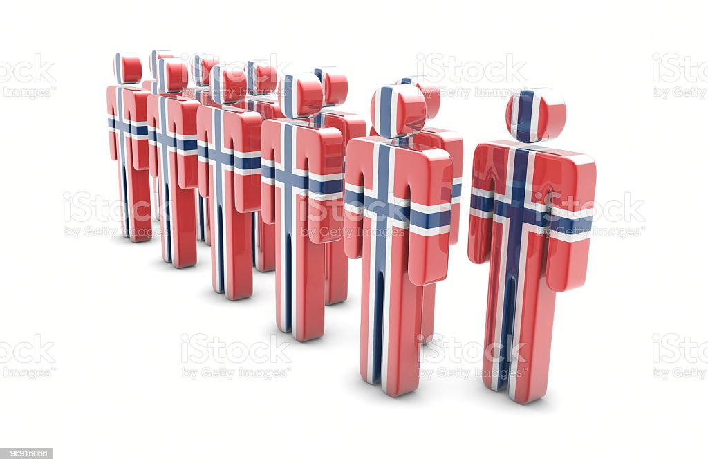 Team Norway royalty-free stock photo