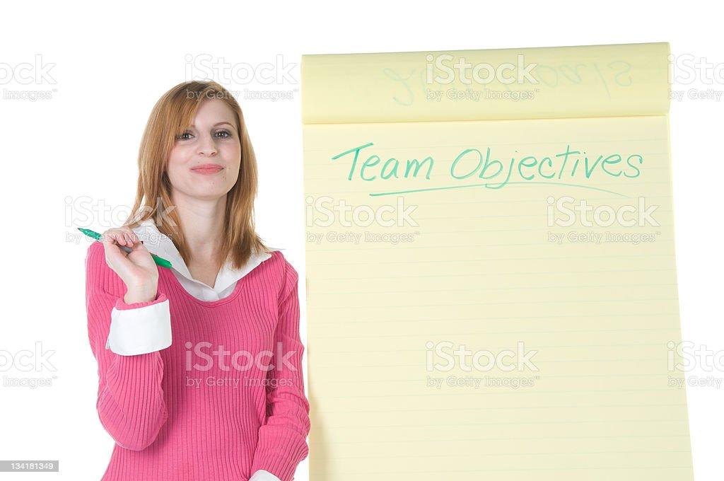 Team Objectives royalty-free stock photo