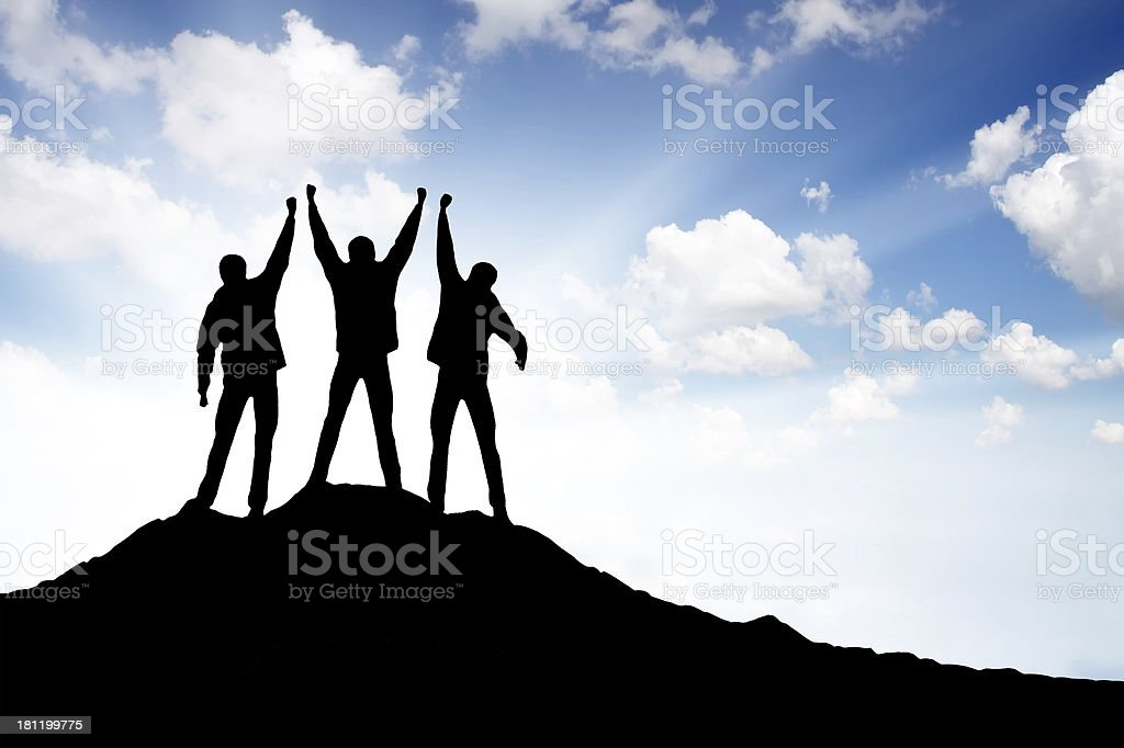 Team of a winners royalty-free stock photo