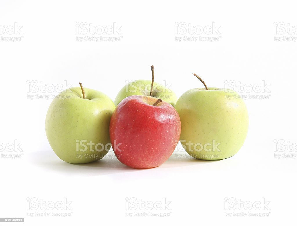 Team of apples royalty-free stock photo