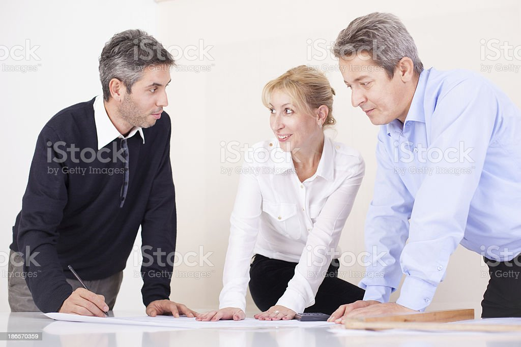 Team of architects royalty-free stock photo