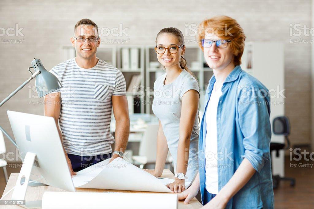 Team von Architekten – Foto