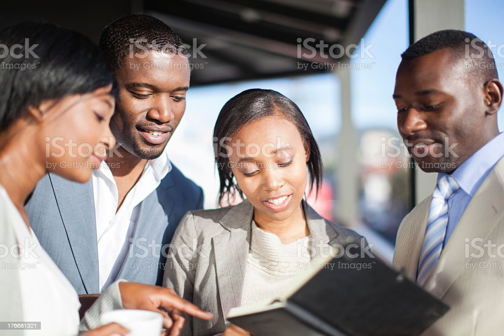Team of businesspeople in Cape Town, South Africa royalty-free stock photo