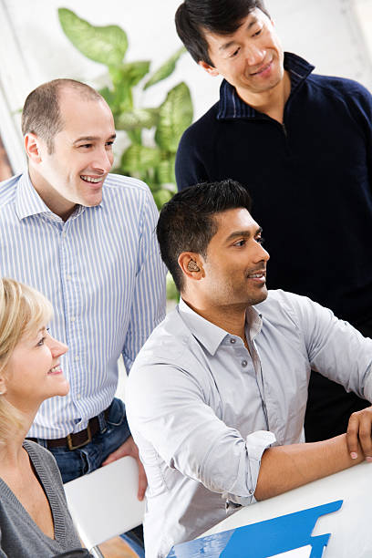 Team of Casual Workers stock photo