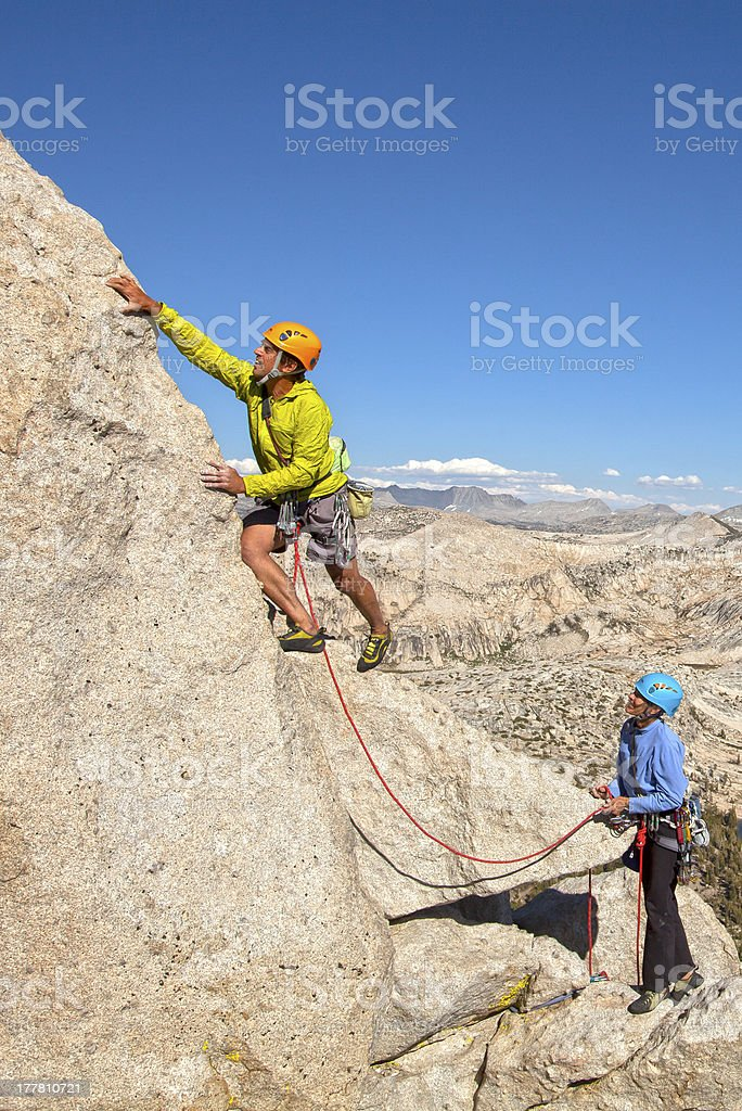 Team of climbers on the edge. royalty-free stock photo