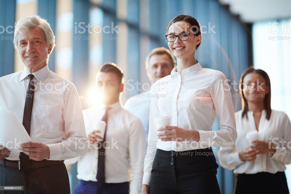 Team of delegates stock photo
