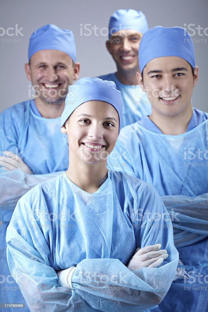 Team of doctors royalty-free stock photo