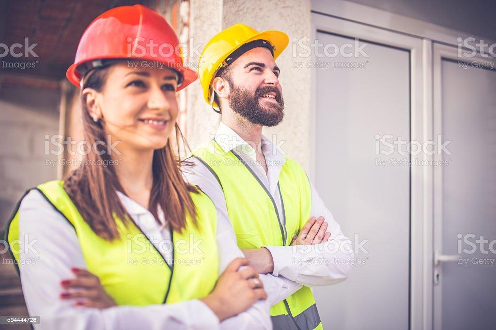 Team of Engineers stock photo