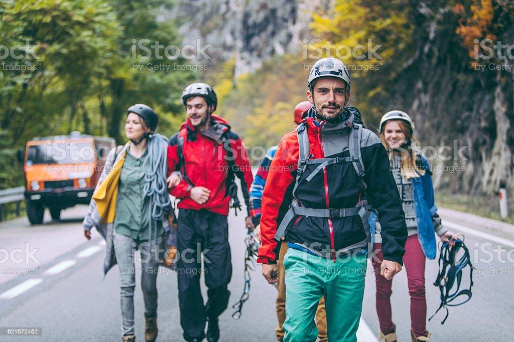 Team of explorers photo libre de droits