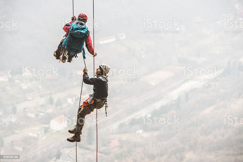 Team of extreme sport lovers stock photo