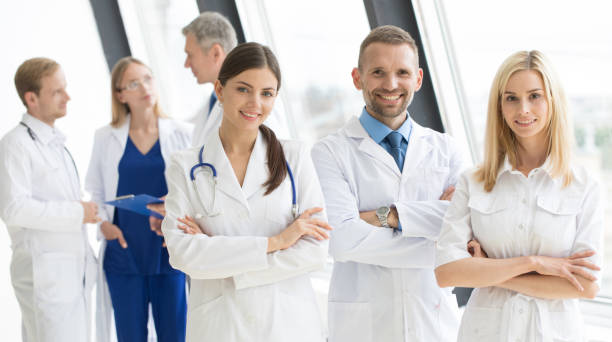 Team of medical doctors stock photo