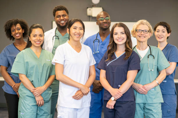A team of medical professionals stock photo