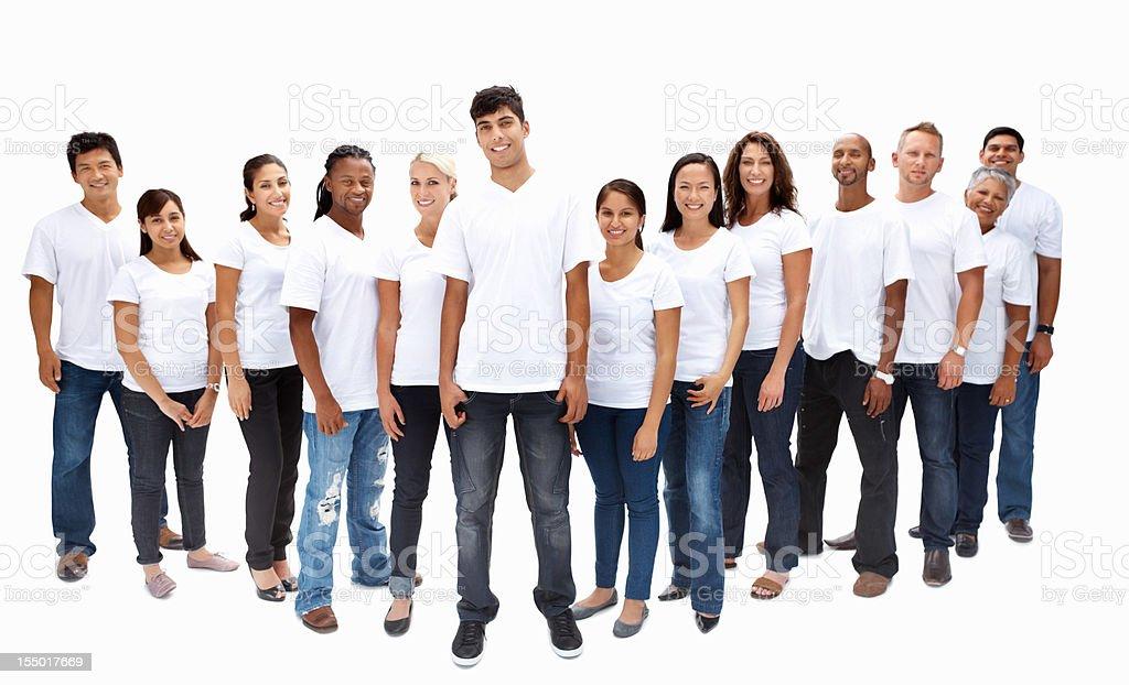 Team of multi ethnic people royalty-free stock photo