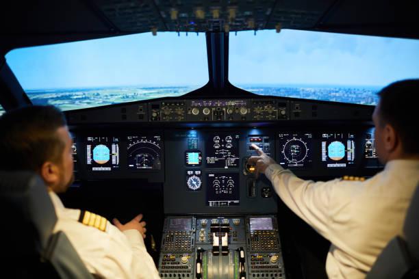 비행 비행기 조종사 팀 - 조종석 뉴스 사진 이미지
