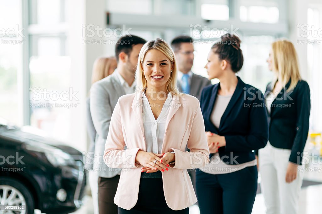 Team of professional salespeople royaltyfri bildbanksbilder