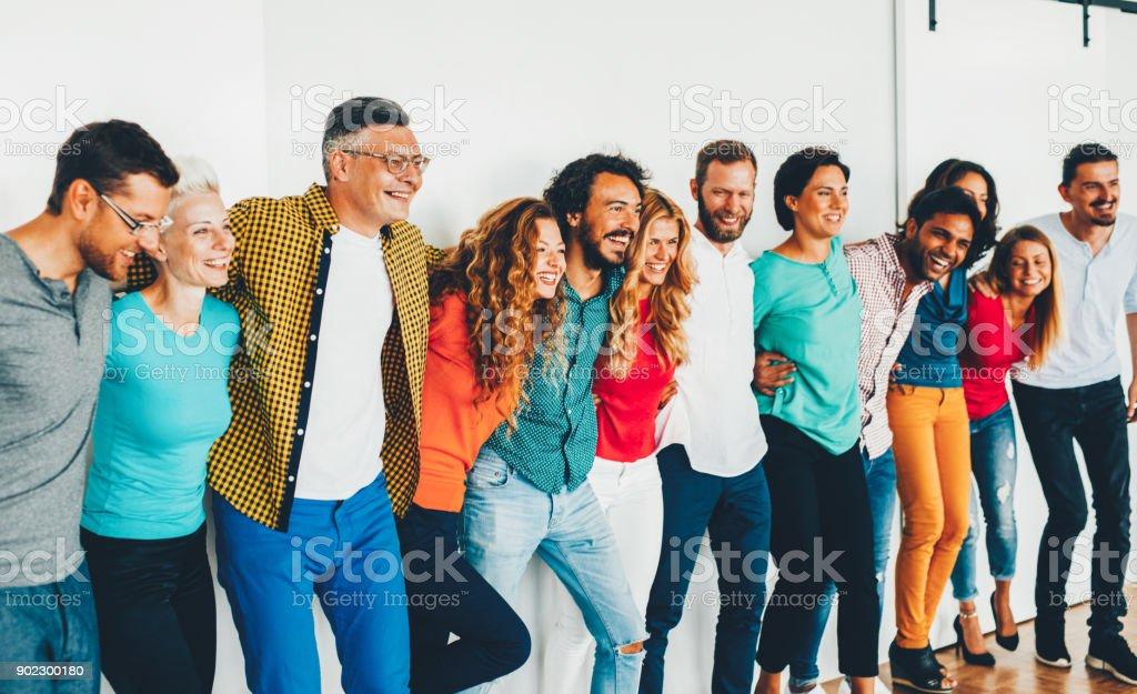 Team of professionals stock photo